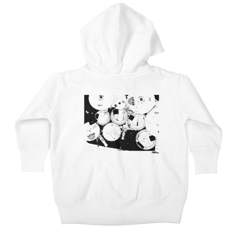 drums Kids Baby Zip-Up Hoody by ROCK ARTWORK | T-shirts & apparels