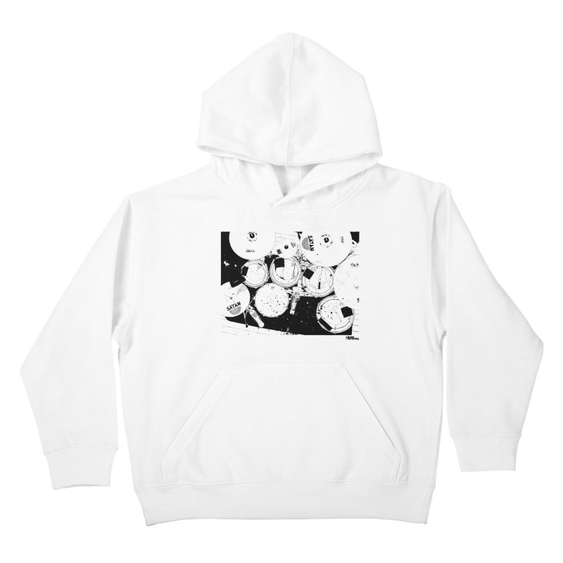 drums Kids Pullover Hoody by ROCK ARTWORK | T-shirts & apparels