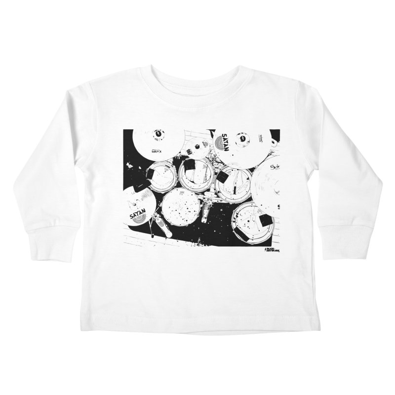 drums Kids Toddler Longsleeve T-Shirt by ROCK ARTWORK | T-shirts & apparels