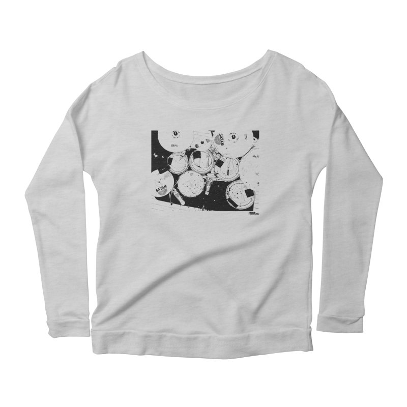 drums Women's Longsleeve Scoopneck  by ROCK ARTWORK | T-shirts & apparels