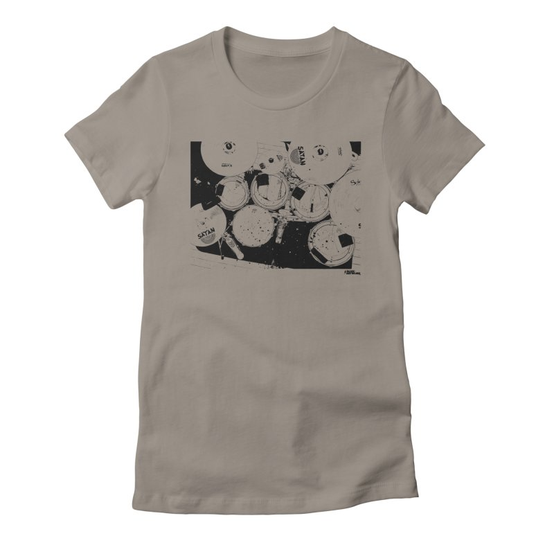 drums Women's Fitted T-Shirt by ROCK ARTWORK | T-shirts & apparels