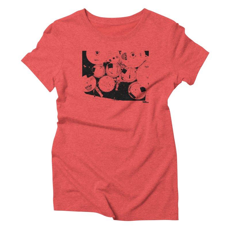 drums Women's Triblend T-shirt by ROCK ARTWORK   T-shirts & apparels