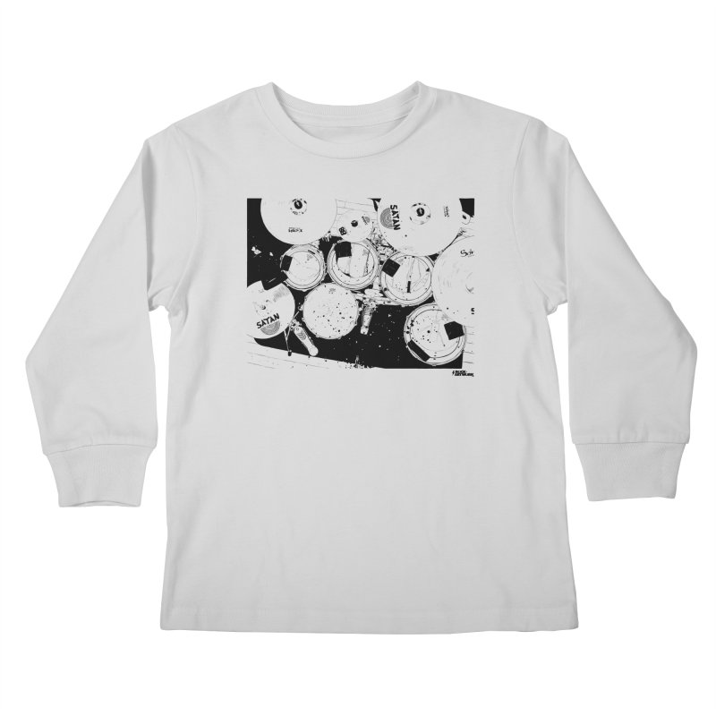 drums Kids Longsleeve T-Shirt by ROCK ARTWORK | T-shirts & apparels