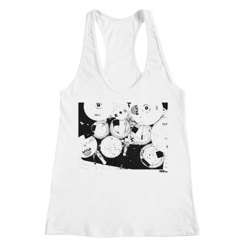 drums Women's Racerback Tank by ROCK ARTWORK | T-shirts & apparels