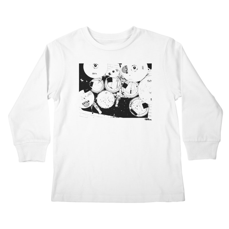 drums Kids Longsleeve T-Shirt by ROCK ARTWORK | T-shirts & apparels