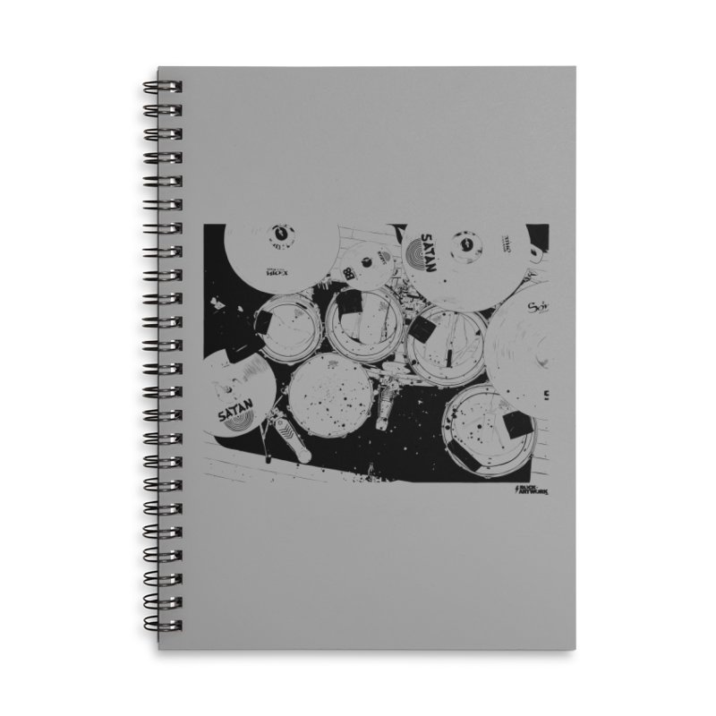 drums Accessories Lined Spiral Notebook by ROCK ARTWORK | T-shirts & apparels