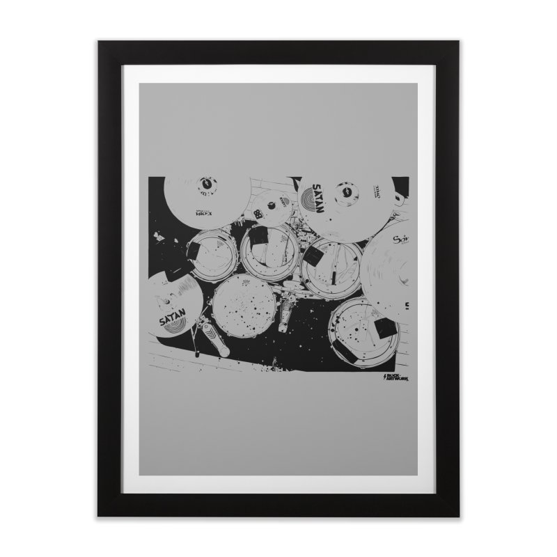 drums Home Framed Fine Art Print by ROCK ARTWORK | T-shirts & apparels