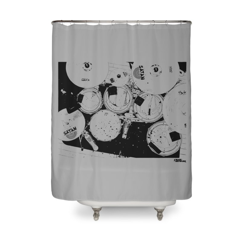 drums Home Shower Curtain by ROCK ARTWORK | T-shirts & apparels