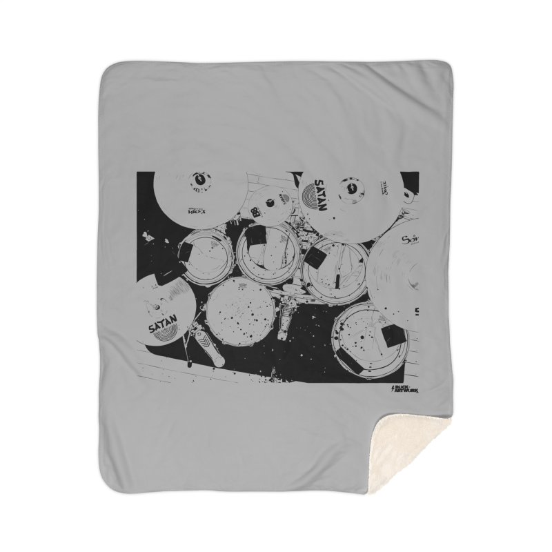 drums Home Sherpa Blanket Blanket by ROCK ARTWORK | T-shirts & apparels