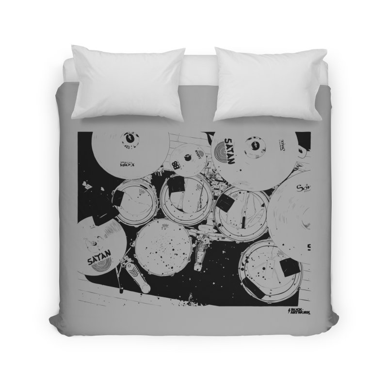 drums Home Duvet by ROCK ARTWORK | T-shirts & apparels