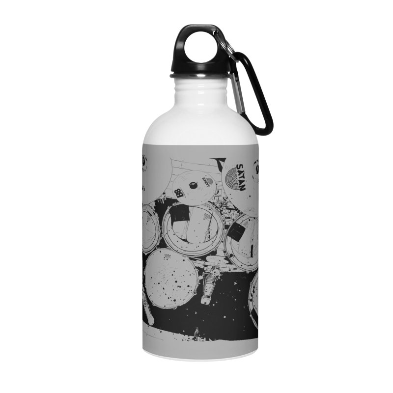 drums Accessories Water Bottle by ROCK ARTWORK | T-shirts & apparels