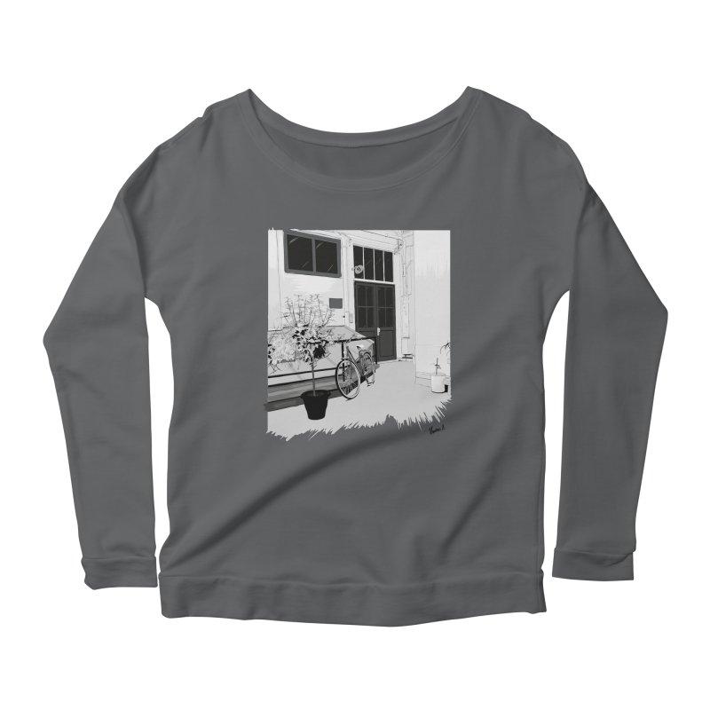 cour interieur Women's Longsleeve Scoopneck  by ROCK ARTWORK | T-shirts & apparels