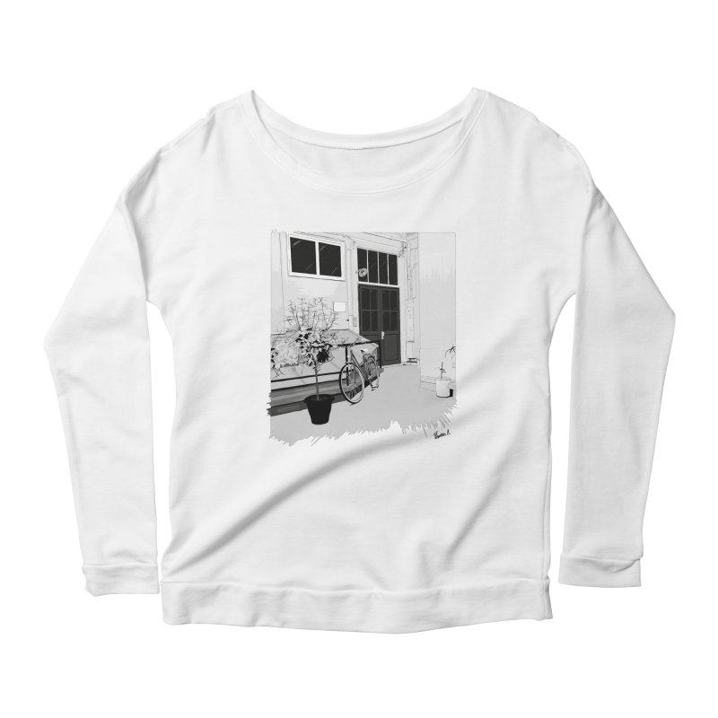 cour interieur Women's Longsleeve Scoopneck  by ROCK ARTWORK | T-shirts & apparels