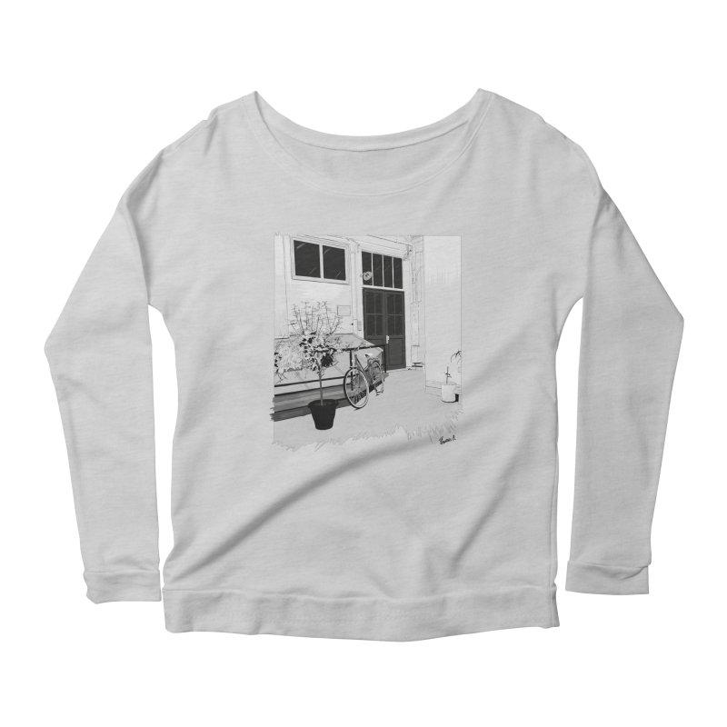 cour interieur Women's Scoop Neck Longsleeve T-Shirt by ROCK ARTWORK | T-shirts & apparels