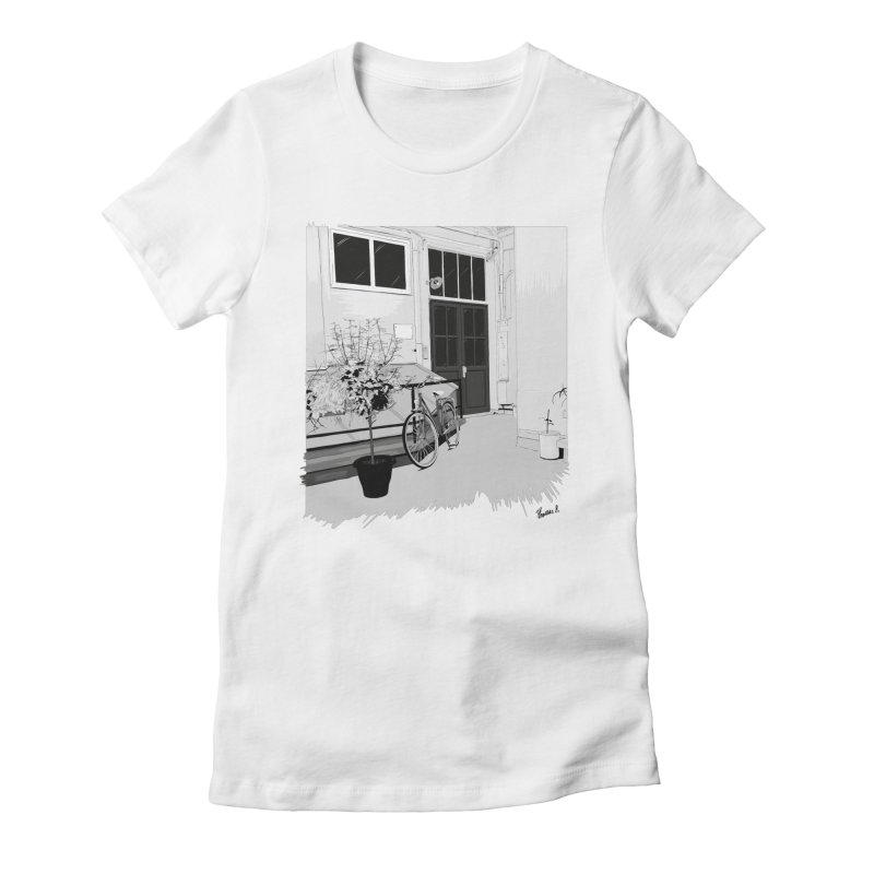 cour interieur Women's Fitted T-Shirt by ROCK ARTWORK | T-shirts & apparels
