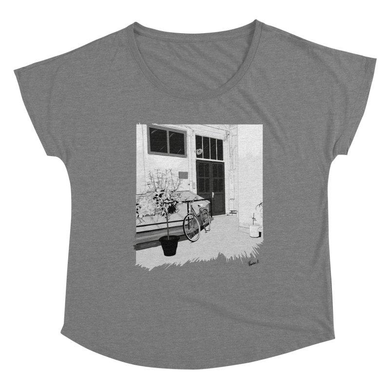 cour interieur Women's Scoop Neck by ROCK ARTWORK | T-shirts & apparels