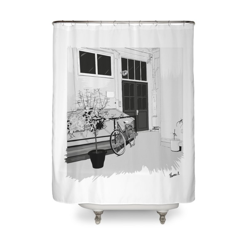 cour interieur Home Shower Curtain by ROCK ARTWORK | T-shirts & apparels
