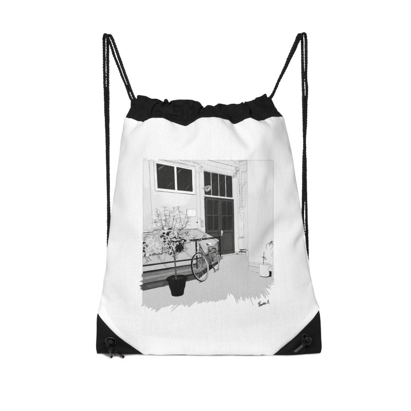 cour interieur Accessories Drawstring Bag Bag by ROCK ARTWORK | T-shirts & apparels