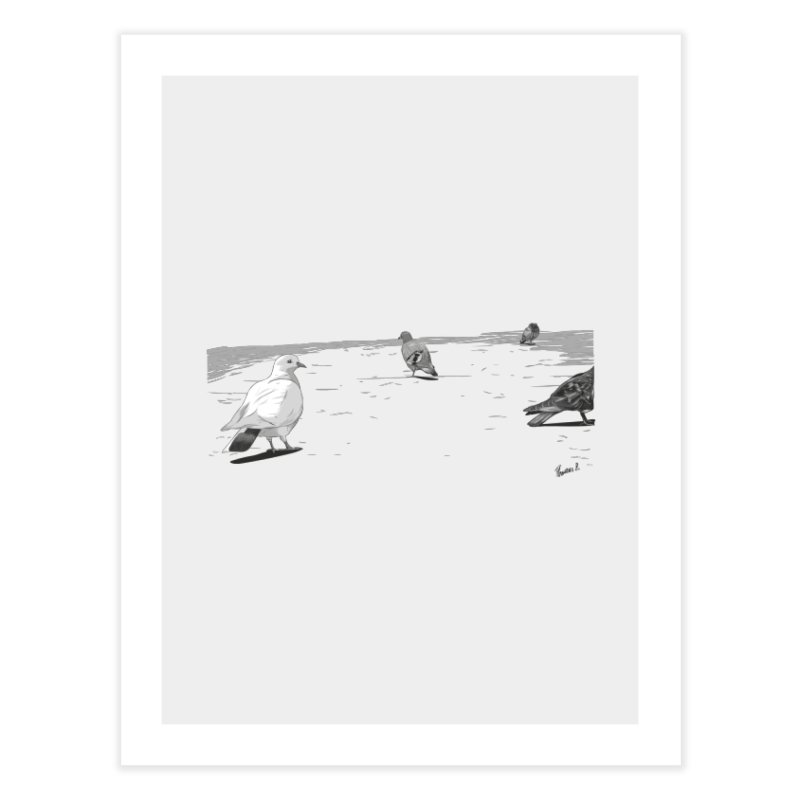 Pigeons parisiens Home Fine Art Print by ROCK ARTWORK | T-shirts & apparels