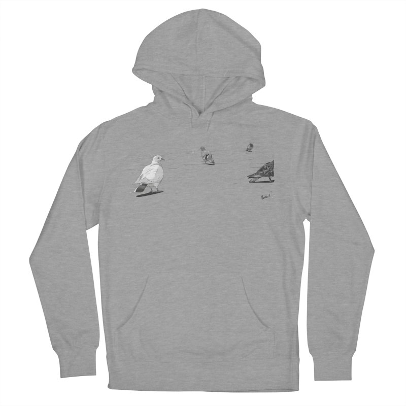 Pigeons parisiens Women's Pullover Hoody by ROCK ARTWORK | T-shirts & apparels