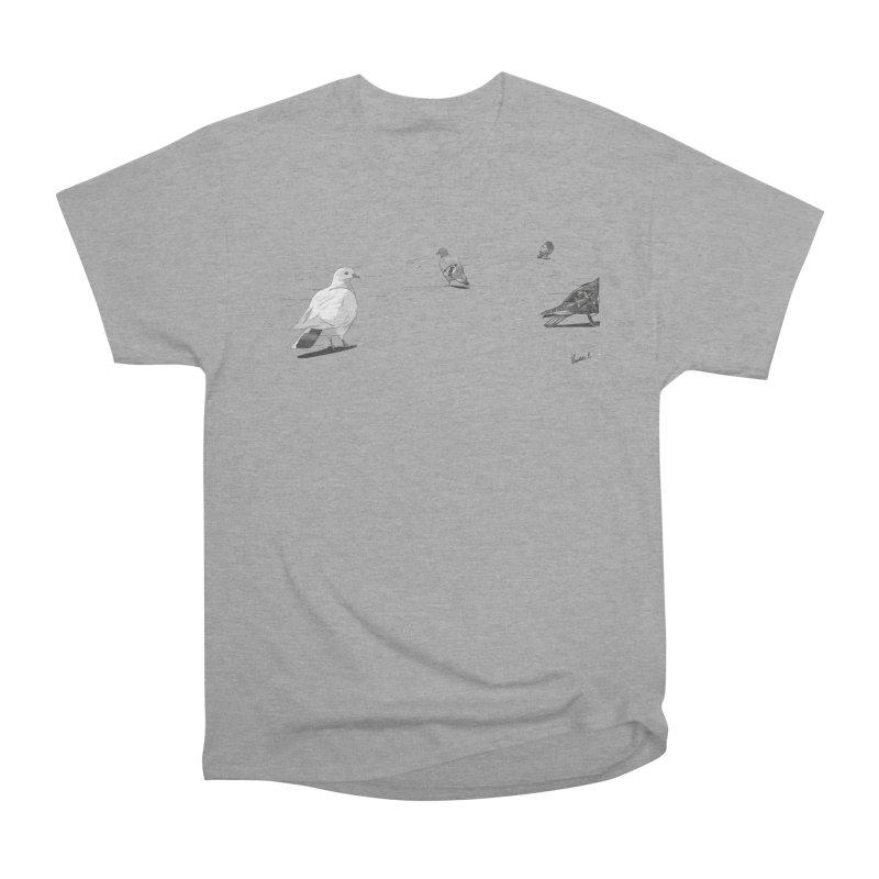 Pigeons parisiens Men's Heavyweight T-Shirt by ROCK ARTWORK | T-shirts & apparels