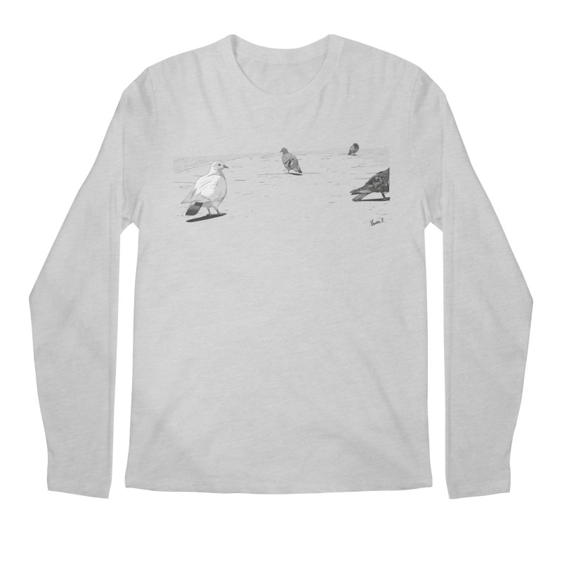 Pigeons parisiens Men's Regular Longsleeve T-Shirt by ROCK ARTWORK | T-shirts & apparels