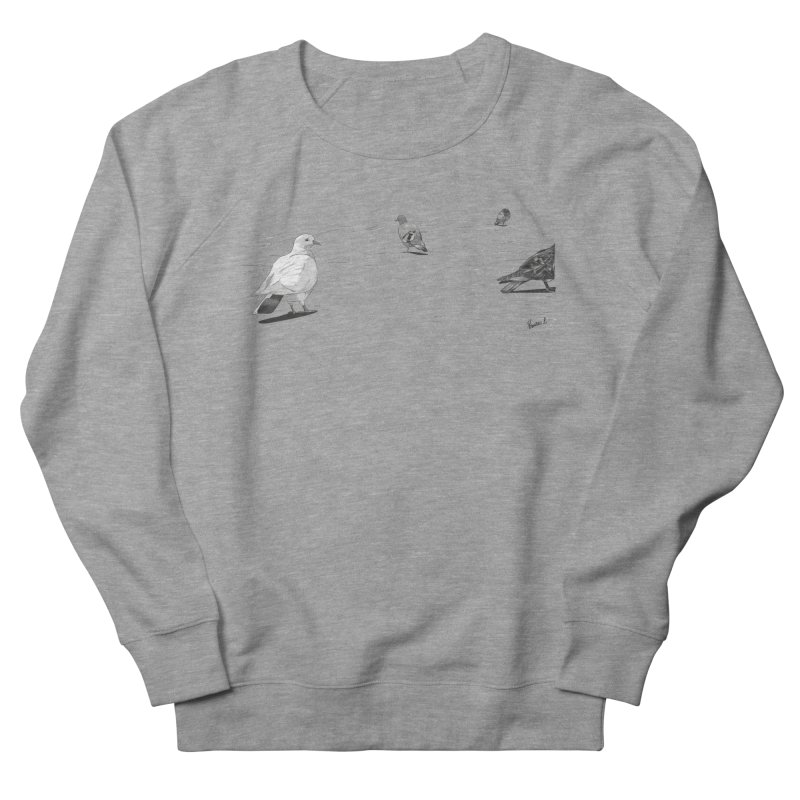 Pigeons parisiens Women's French Terry Sweatshirt by ROCK ARTWORK | T-shirts & apparels