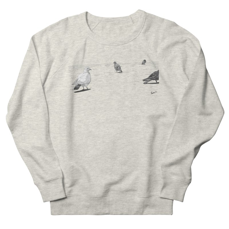 Pigeons parisiens Women's French Terry Sweatshirt by ROCK ARTWORK   T-shirts & apparels
