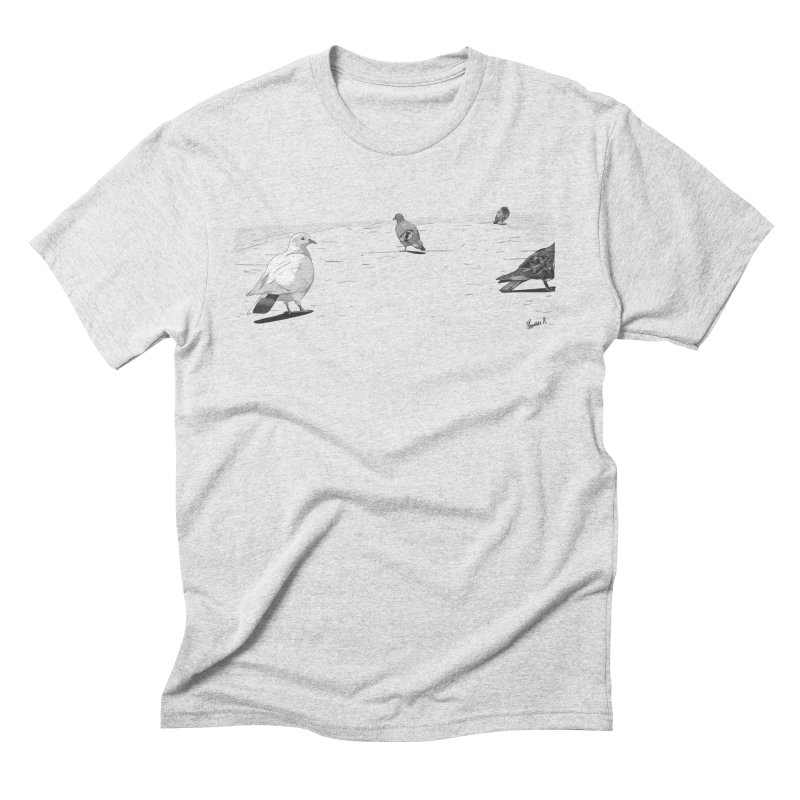Pigeons parisiens Men's Triblend T-Shirt by ROCK ARTWORK | T-shirts & apparels