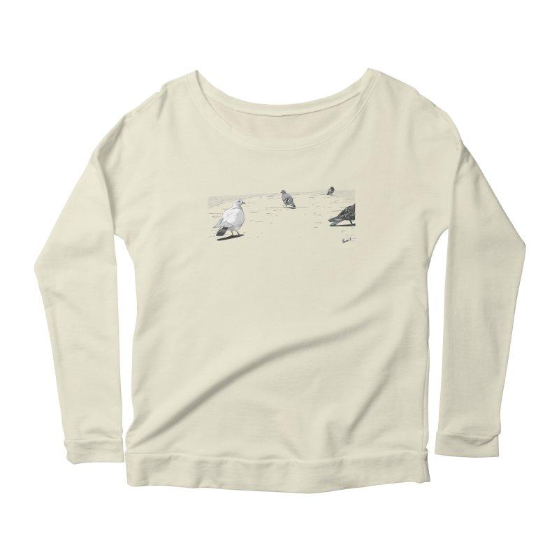 Pigeons parisiens Women's Scoop Neck Longsleeve T-Shirt by ROCK ARTWORK   T-shirts & apparels