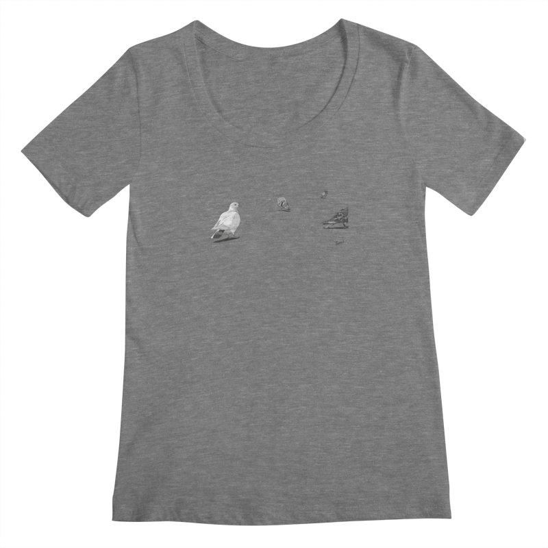 Pigeons parisiens Women's Scoopneck by ROCK ARTWORK | T-shirts & apparels