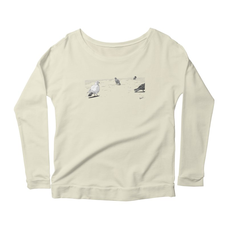 Pigeons parisiens Women's Longsleeve Scoopneck  by ROCK ARTWORK   T-shirts & apparels