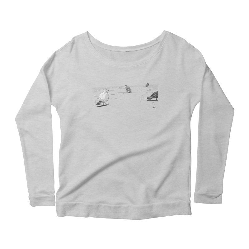 Pigeons parisiens Women's Longsleeve Scoopneck  by ROCK ARTWORK | T-shirts & apparels