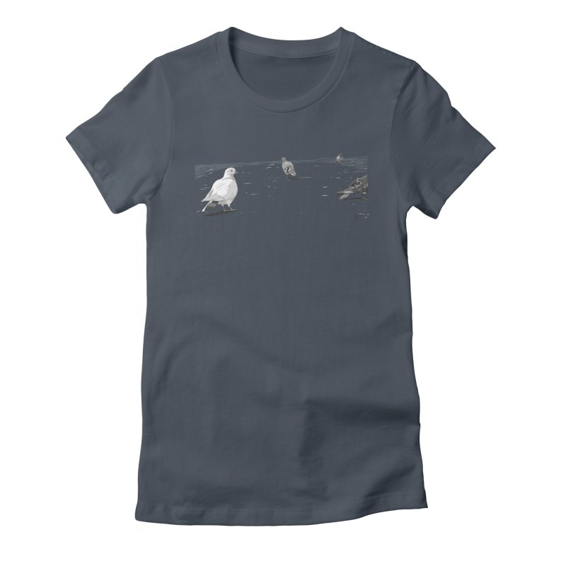 Pigeons parisiens Women's Fitted T-Shirt by ROCK ARTWORK | T-shirts & apparels