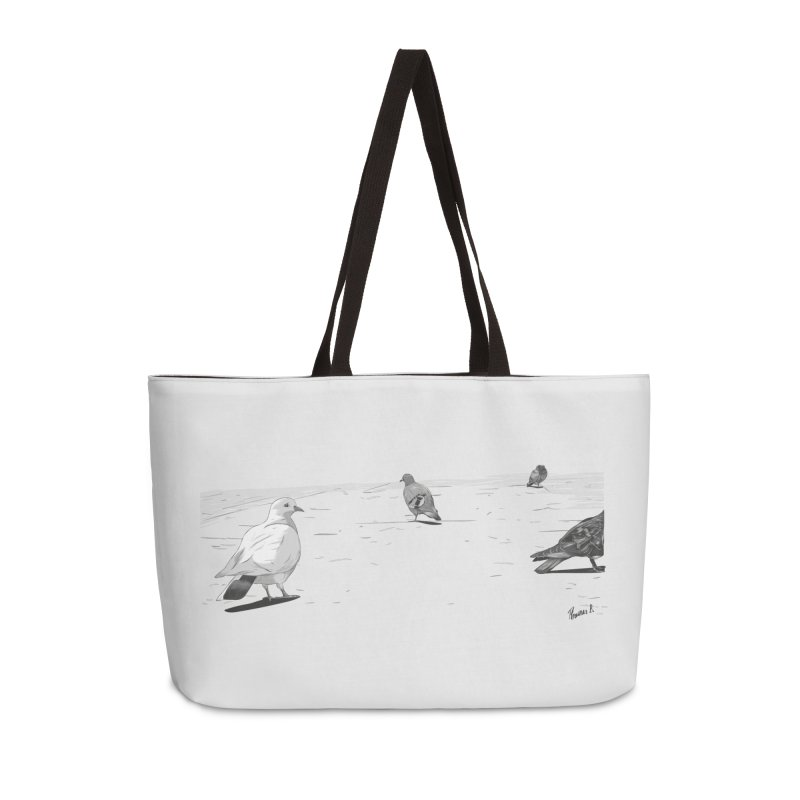 Pigeons parisiens Accessories Weekender Bag Bag by ROCK ARTWORK | T-shirts & apparels