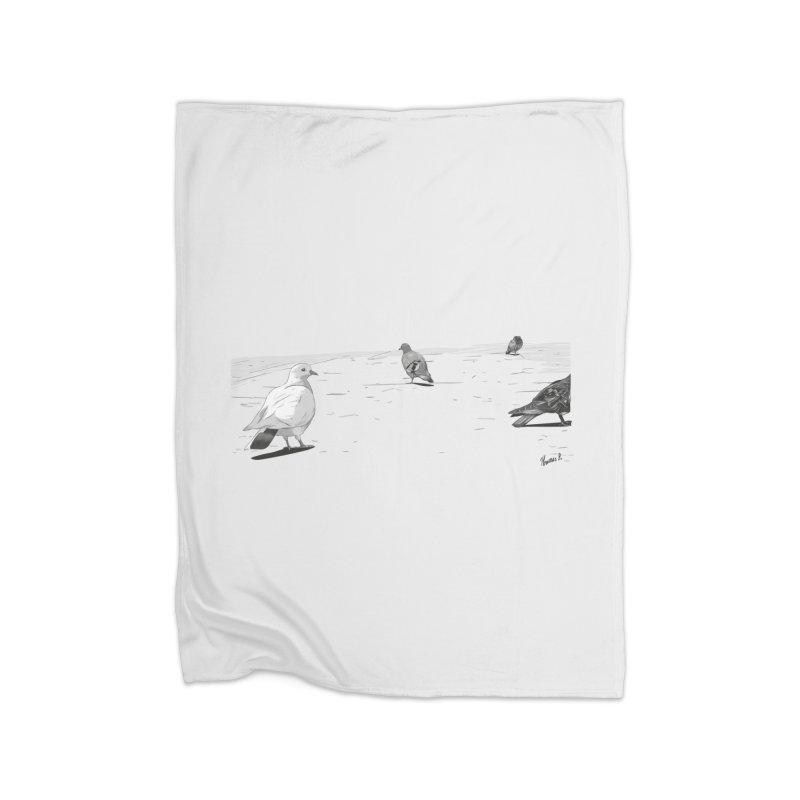 Pigeons parisiens Home Blanket by ROCK ARTWORK | T-shirts & apparels