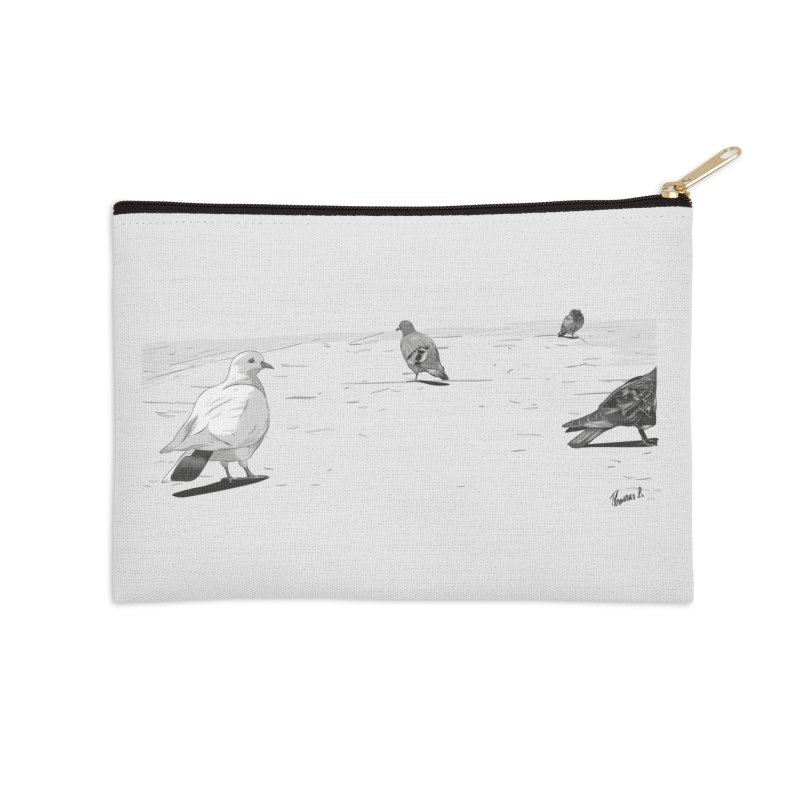 Pigeons parisiens Accessories Zip Pouch by ROCK ARTWORK | T-shirts & apparels