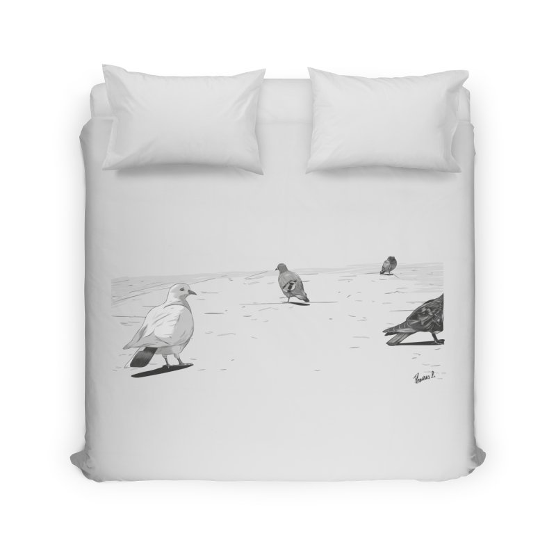 Pigeons parisiens Home Duvet by ROCK ARTWORK | T-shirts & apparels