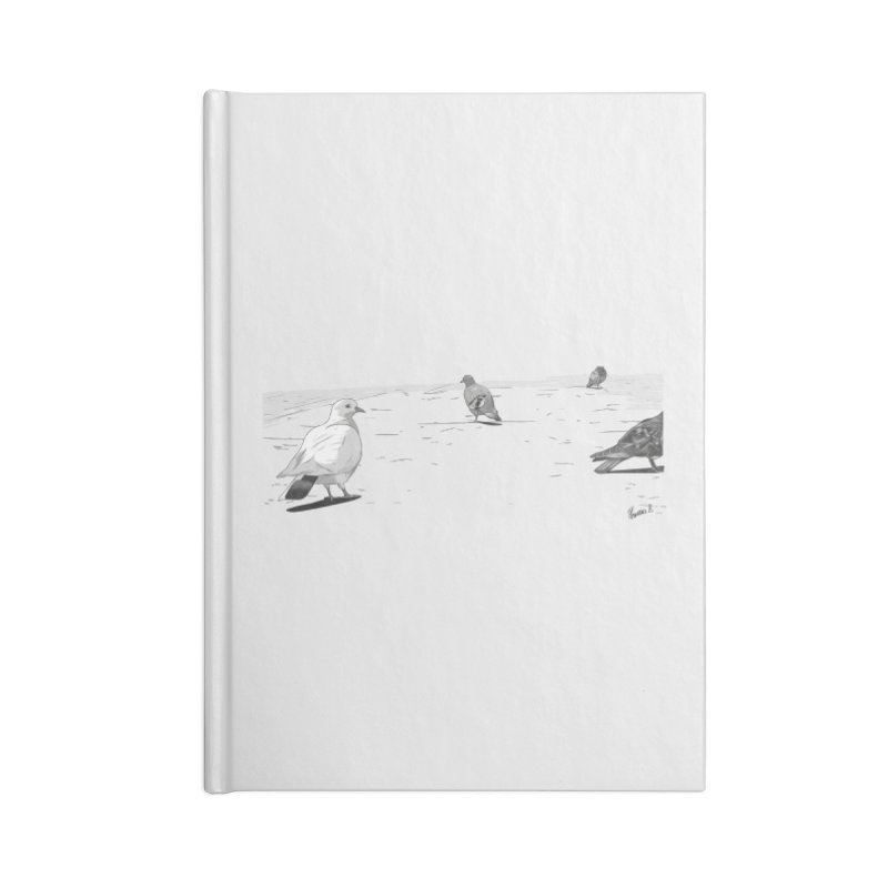 Pigeons parisiens Accessories Lined Journal Notebook by ROCK ARTWORK | T-shirts & apparels