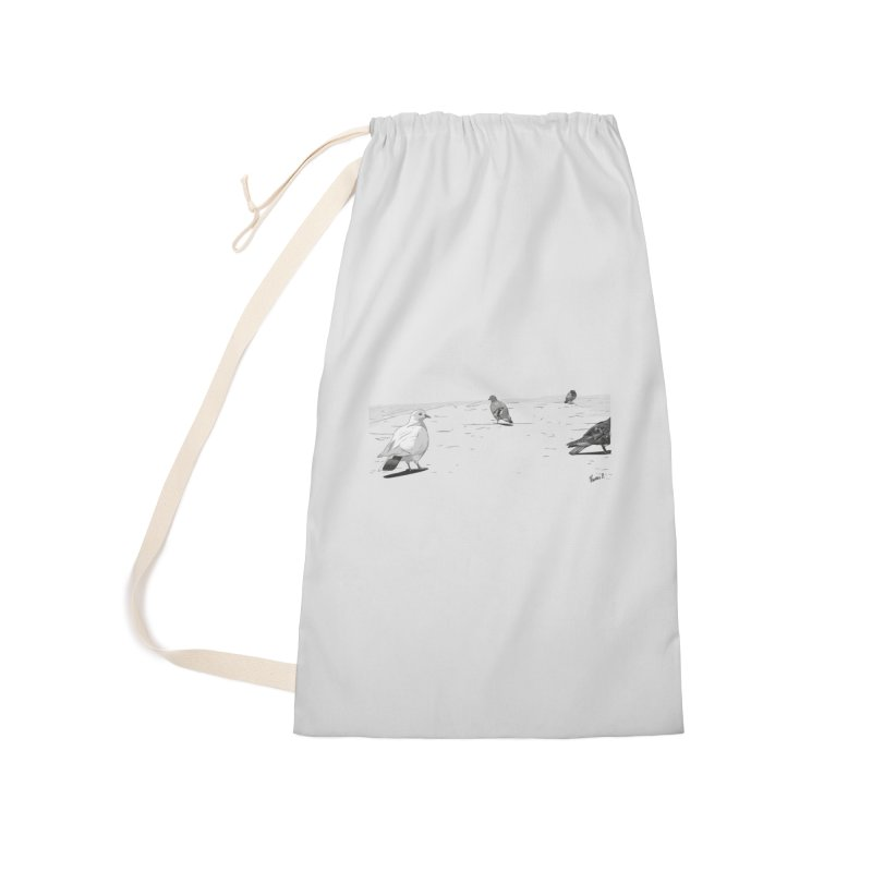 Pigeons parisiens Accessories Laundry Bag Bag by ROCK ARTWORK | T-shirts & apparels