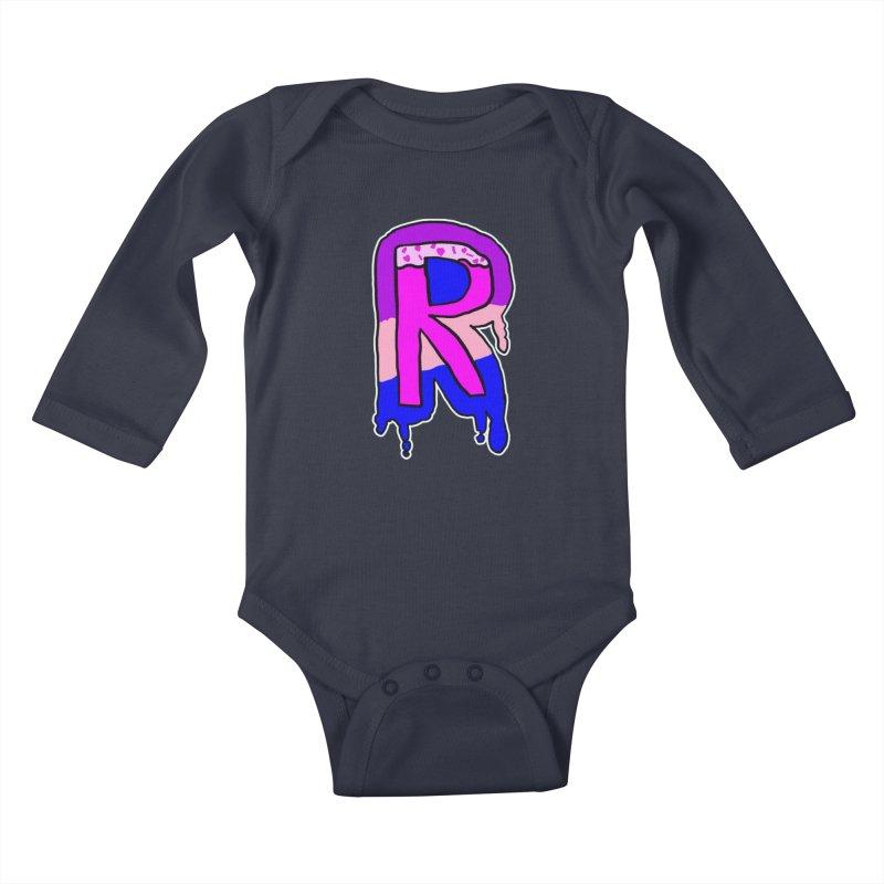Rozzy Donut Drip Kids Baby Longsleeve Bodysuit by RockerByeDestash Market