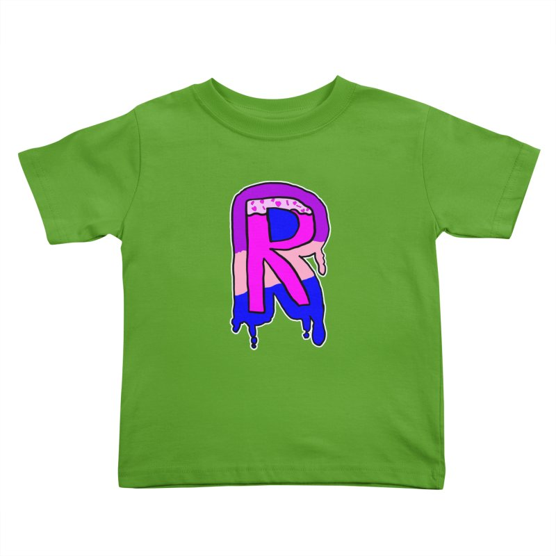 Rozzy Donut Drip Kids Toddler T-Shirt by RockerByeDestash Market