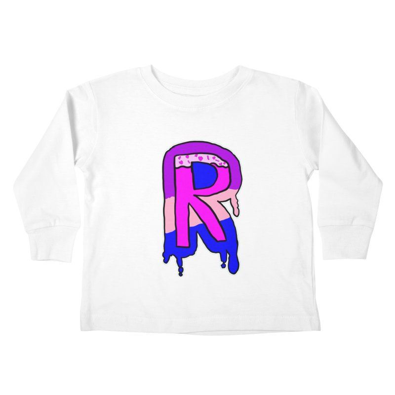 Rozzy Donut Drip Kids Toddler Longsleeve T-Shirt by RockerByeDestash Market