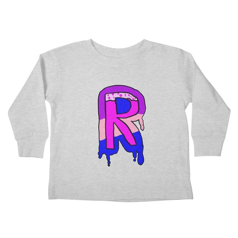 Rozzy Donut Drip Kids Toddler Longsleeve T-Shirt by RockerByeDestash Market