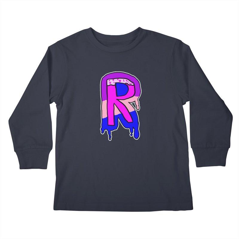 Rozzy Donut Drip Kids Longsleeve T-Shirt by RockerByeDestash Market