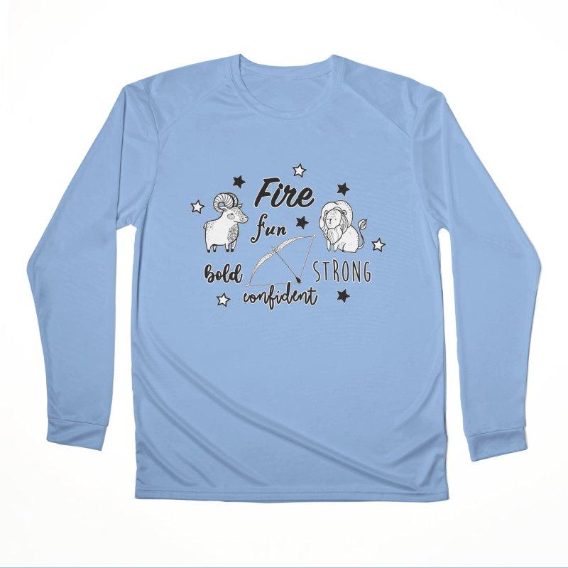 Fire sign Men's Longsleeve T-Shirt by RockerByeDestash Market