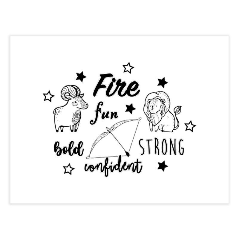 Fire sign Home Fine Art Print by RockerByeDestash Market