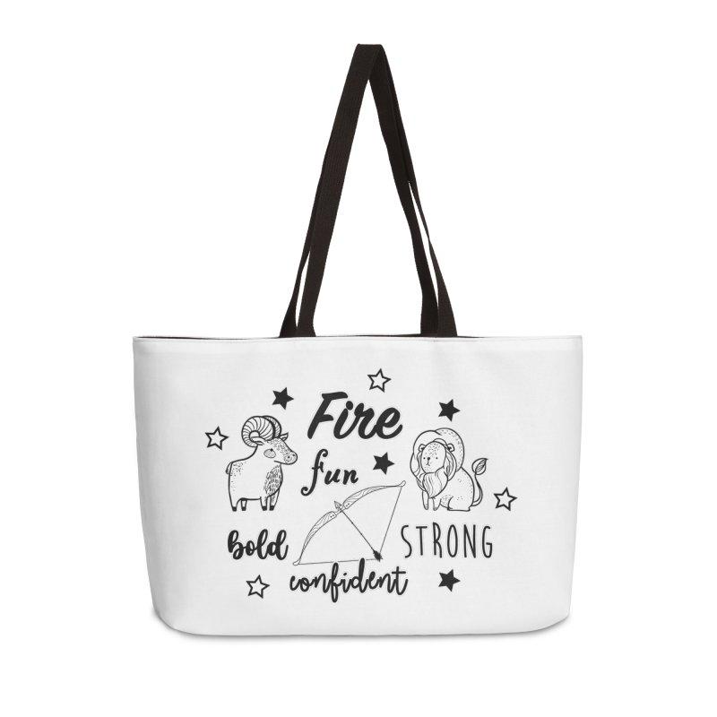 Fire sign Accessories Bag by RockerByeDestash Market
