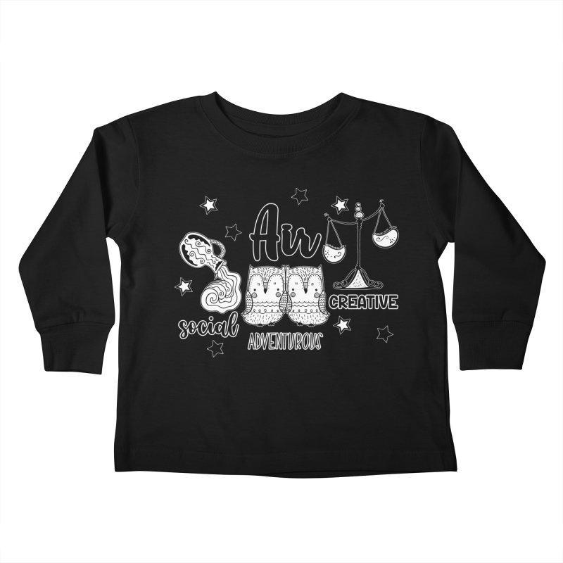 Air - Element Horoscope Kids Toddler Longsleeve T-Shirt by RockerByeDestash Market