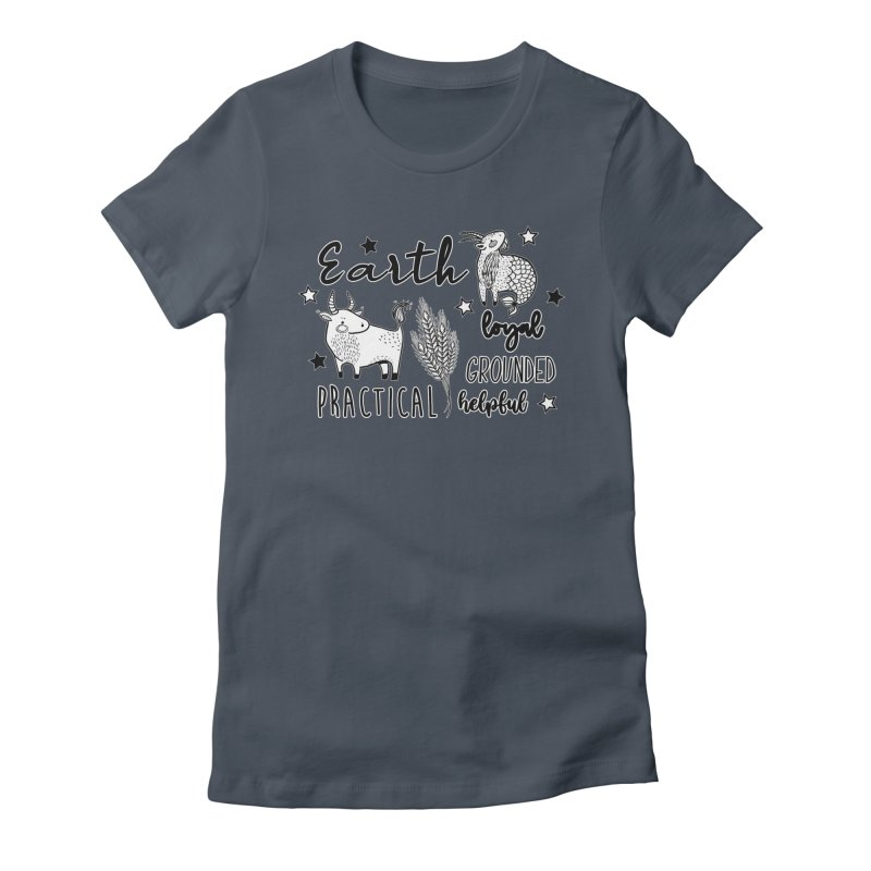 Earth Sign - Element Zodiac Women's T-Shirt by RockerByeDestash Market